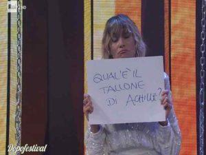 Dopofestival Sanremo gaffe Anna Foglietta