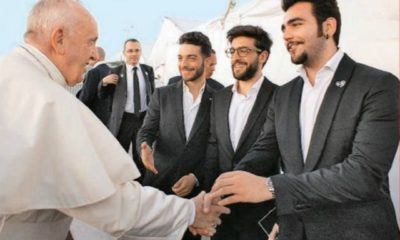 il volo incontro papa francesco