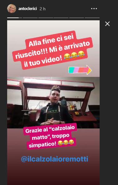 dedica social ammiratore Antonella Clerici screenshot