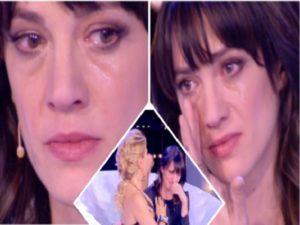 asia argento piange da barbara durso
