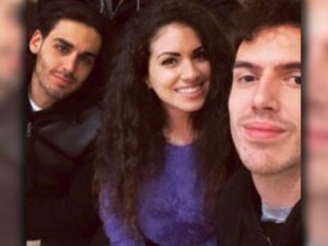 Giorgia Iarrera foto con Mameli e Alberto urso