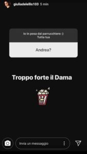 giulia de lellis risposta instagram dama