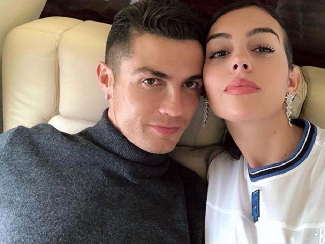 Georgina Rodriguez e Ronaldo sanremo