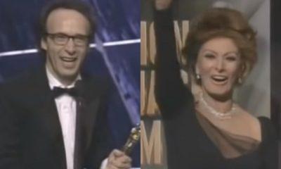 Sophia Loren e Roberto Benigni, retroscena Oscar