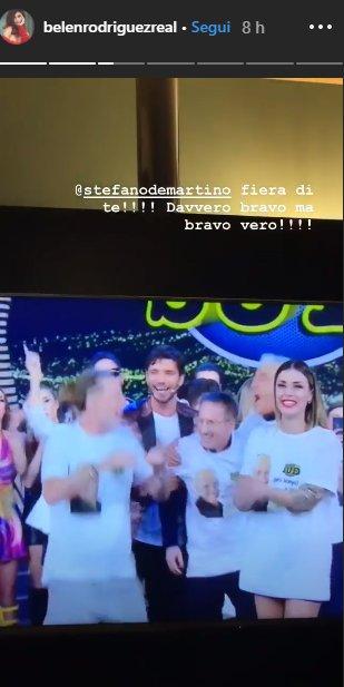 """Belen dedica a Stefano: """"Fiera di te"""""""