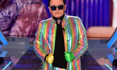 cristiano malgioglio vestito arcobaleno