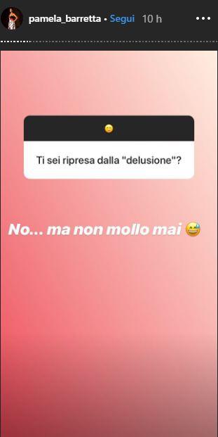 Pamela Barretta delusione Stefano