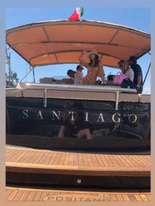Belen Rodriguez yacht Santiago
