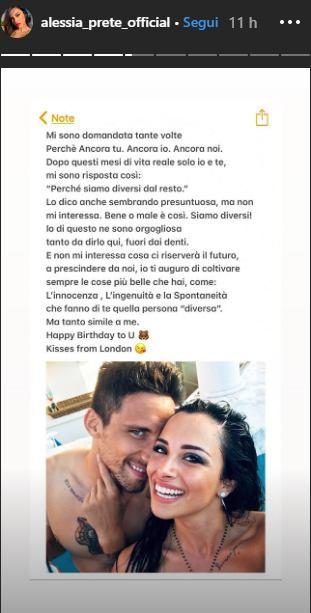 Alessia Prete dedica Matteo Gentili, conferma ritorno di fiamma