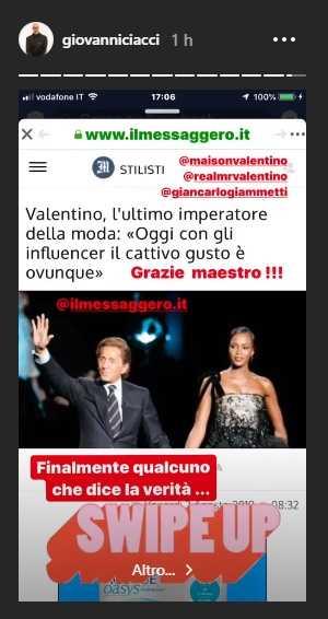 Giovanni Ciacci contro gli influencer screen
