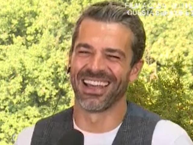Luca Argentero a Storie Italiane nozze con Cristina Marino