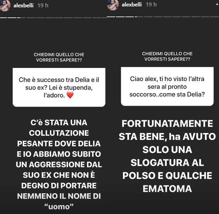 alex belli ig stories