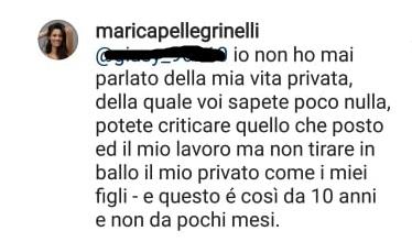 marica pellegrinelli instagram risposta