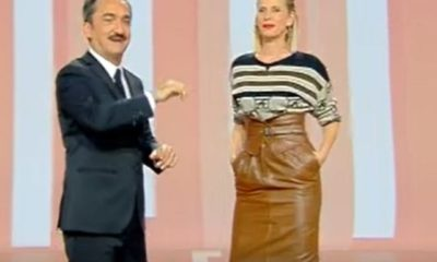 Alessia Marcuzzi Le Iene look discutibile