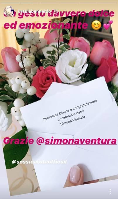 Simona Ventura regalo Sossio e Ursula