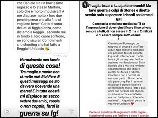 Ambra Lombardo parere Martina e Daniele