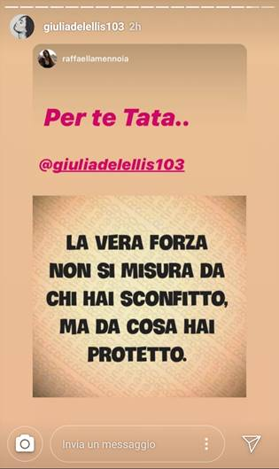 frase Raffaella Mennoia Giulia