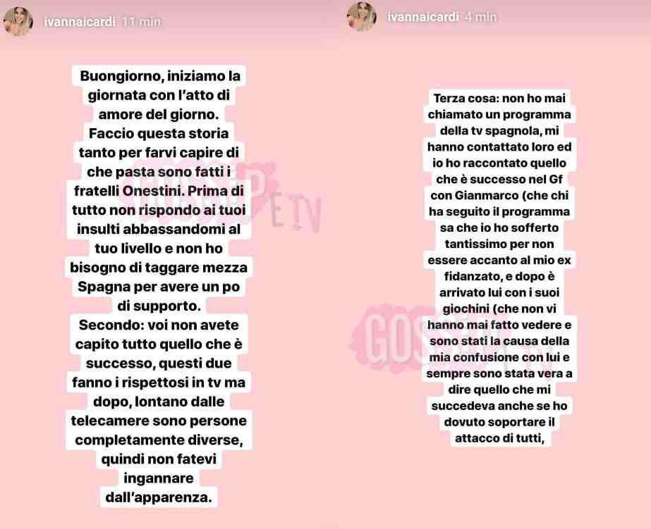ivana icardi sfogo instagram
