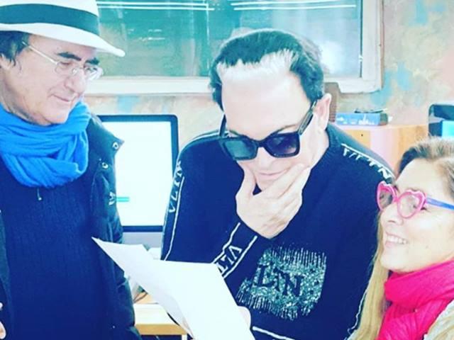 Albano e Romina ospiti a Sanremo, Malgioglio