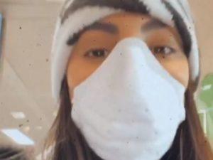 coronavirus giulia de lellis con la mascherina
