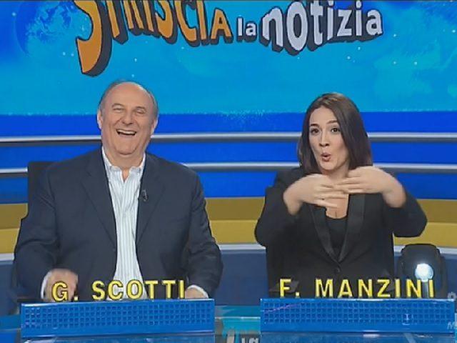 Francesca Manzini prima volta a Striscia la Notizia