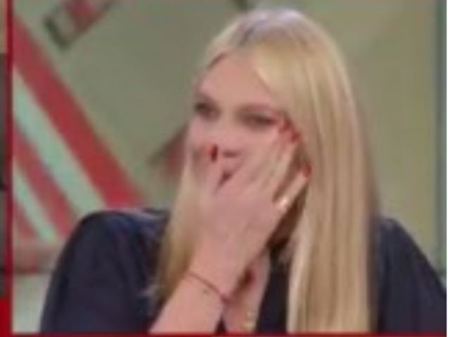 eleonora daniele piange a storie italiane