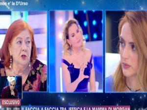 jessica mazzoli furia contro la madre di morgan in tv