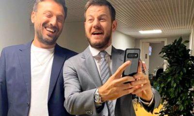 Foto di Alessandro Cattelan e Cesare Cremonini insieme
