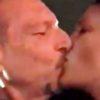 Foto bacio Giovanna e Amadeus