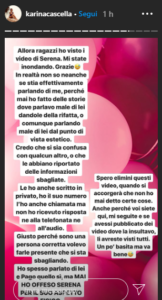 Risposta Karina a Serena Enardu
