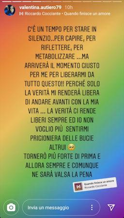 valentina autiero sfogo instagram