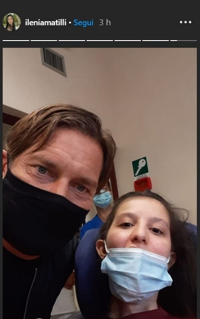 Totti e Ilenia all'ospedale