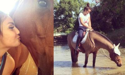 elettra lamborghini foto cavallo lolita