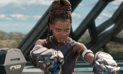 Letitia Wright nel film black panther