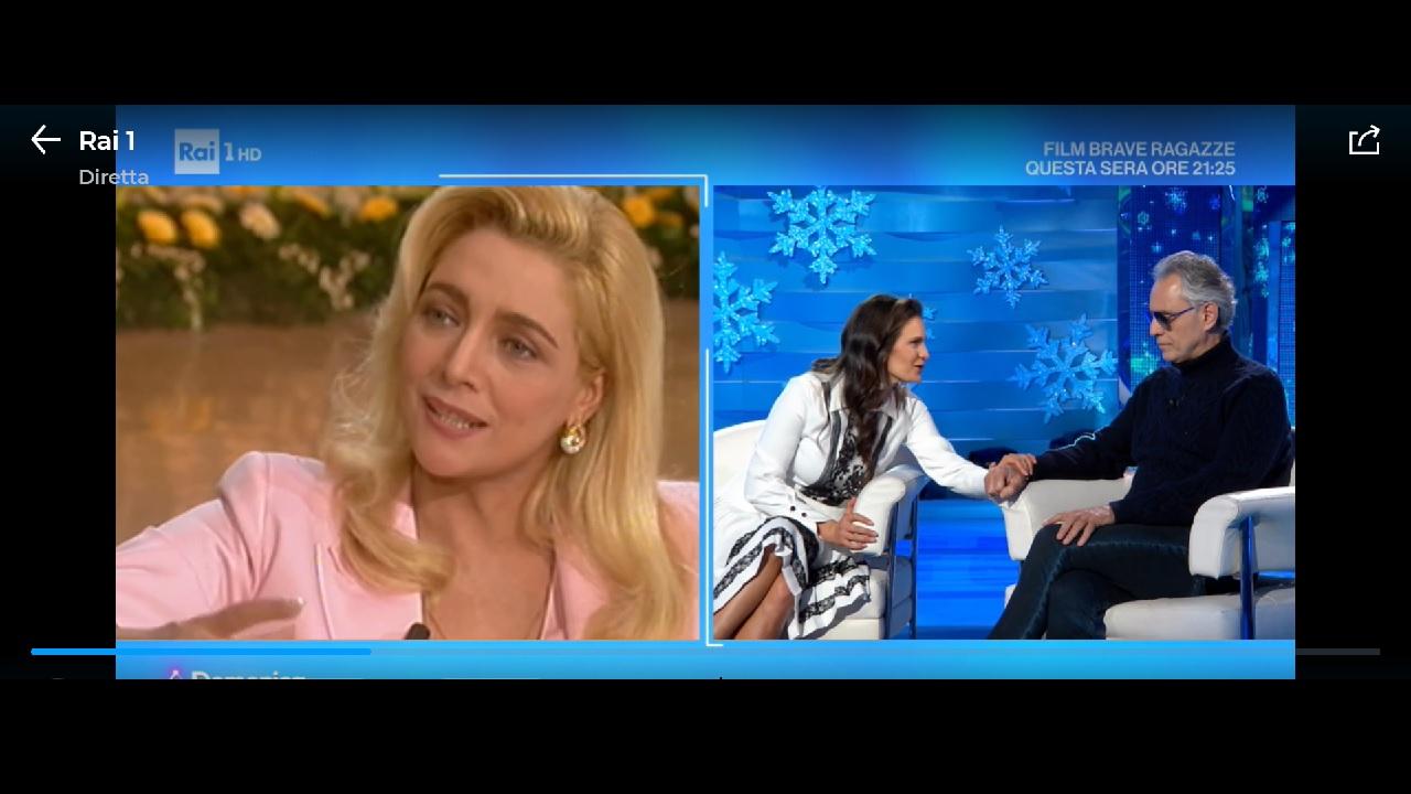 Intervista Bocelli Domenica In