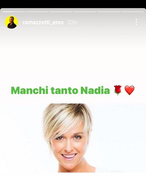Ramazzotti commemora Nadia