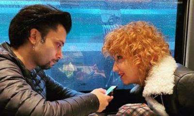 mannoia in treno col fidanzato di francesco