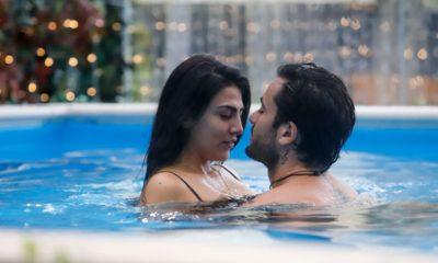 giulia salemi e pretelli in piscina