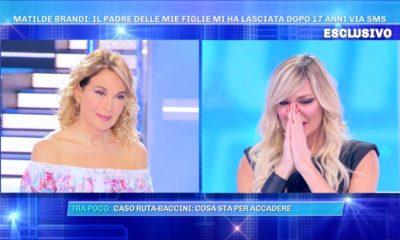 Matilde Brandi in lacrime