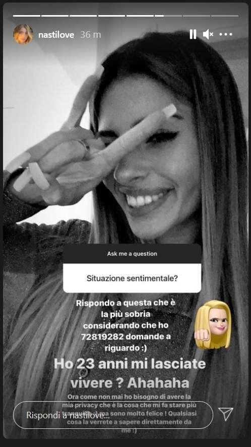 Chiara Nasti, ig story