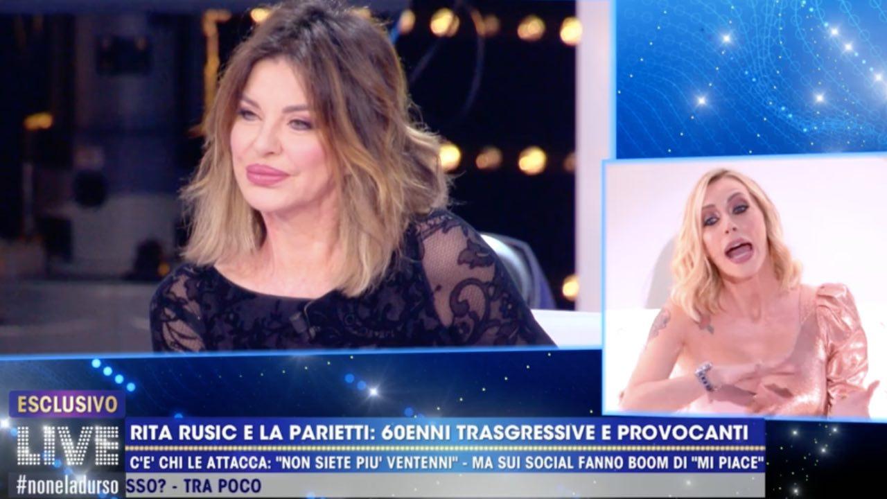 Karina Cascella contro Alba Parietti live non è la d'urso