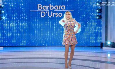 domenica in Barbara D'Urso imitata