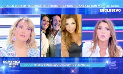 Brosio ha baciato Manuela Ferrera domenica live