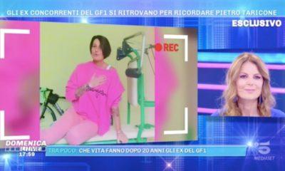 domenica live Cristina Plevani marina La Rosa Pietro Taricone