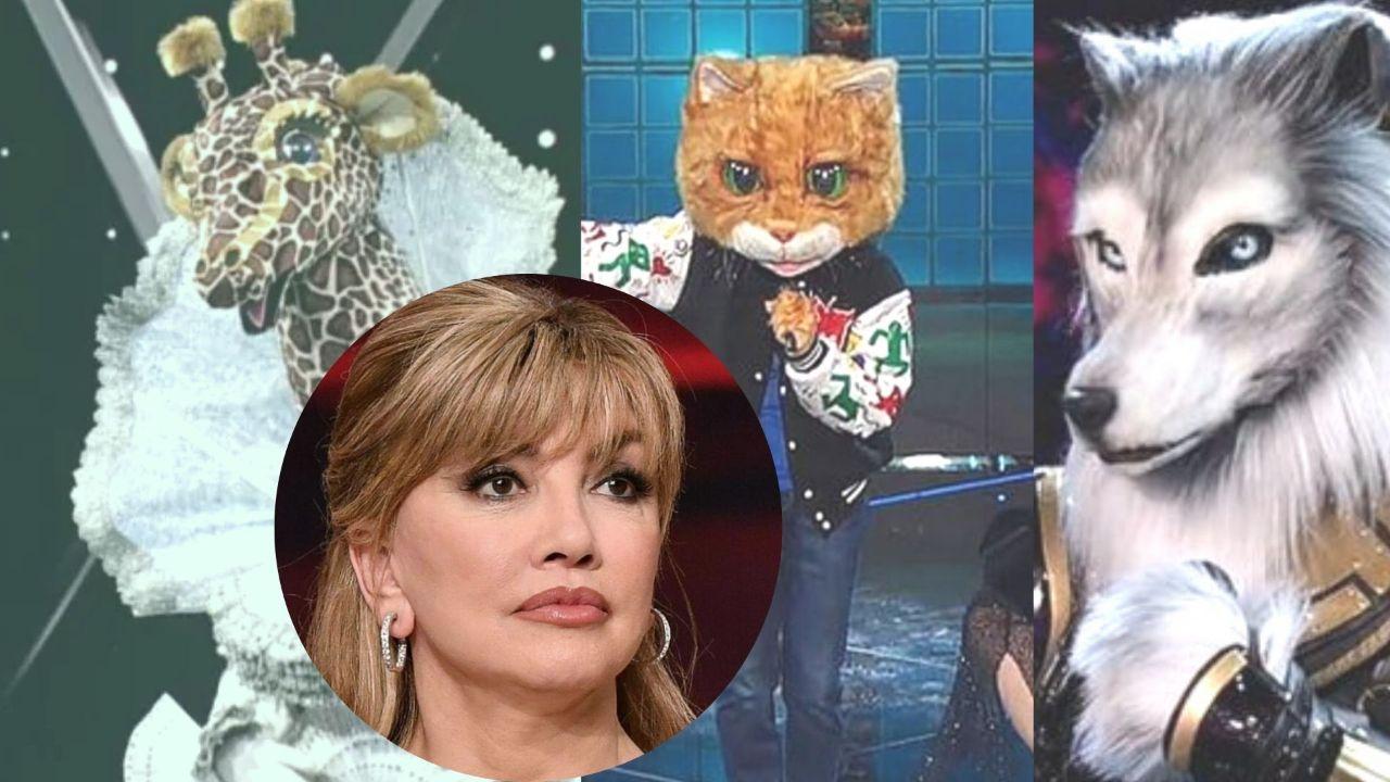 milly carlucci preoccupata per gatto lupo giraffa il cantante mascherato