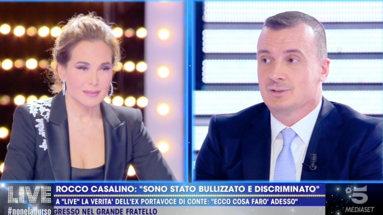 Rocco Casalino confessione a Barbara D'Urso