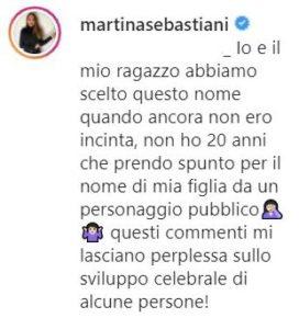 martina sebastiani annuncia sesso del bebè