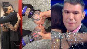 Fedez a Sanremo 2021 con i bracciali anti ansia piange sul palco