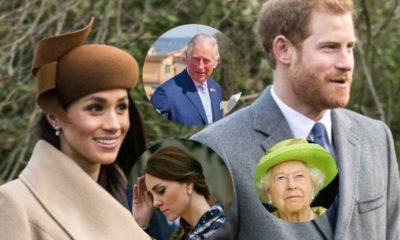 harry, meghan, regina, carlo e kate