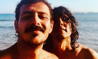 ermal meta e leonardo amici foto al mare